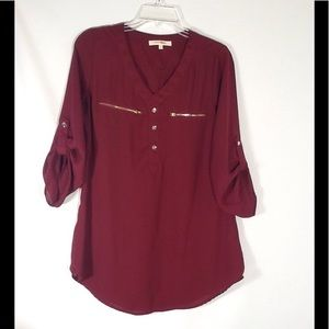 Wishful Park Cranberry Tunic Top